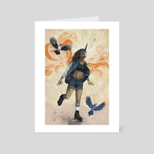 I Could Fly If I Wanted To - Art Card by Ray Miller