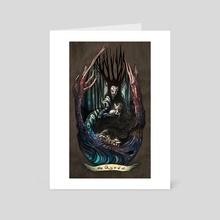 The Queen - Art Card by Bridget Underwood