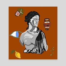 aphrodite and all things greek - Canvas by Zoe Tischner