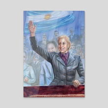 Watercolor Painting of Eva Peron - Powerful Women Oracle Card Deck - Acrylic by Belinda Morris
