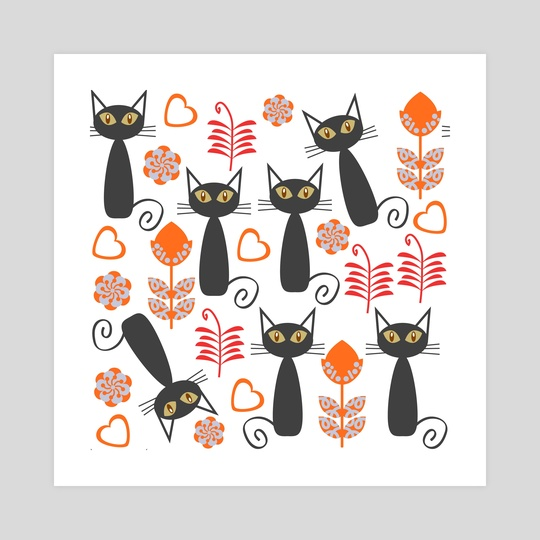 Cats pattern by Luiza Kozich