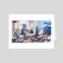 Pretty Guardian Persona Battle Scene - Art Card by Trapgears