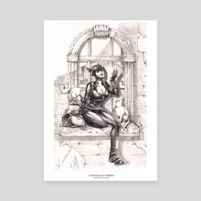 Gotham Siren Series: Catwoman - Canvas by Tweedle draws