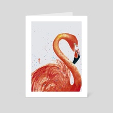 Great Flamingo - Art Card by Reem Abdelbadie