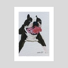 Smiley Doggo - Art Print by Ashley Hills