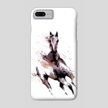 Splatter horse - Phone Case by Andreea Red