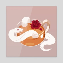 Rose Tea - Acrylic by Re(h)sa / Hasenherz