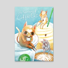 The Adventures of Coffee Cat - Acrylic by Nikki Smits