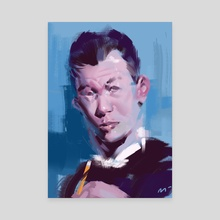 guy vs blue - Canvas by Michal Lisowski