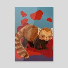 Lloyd the Guardian Red Panda - Acrylic by Hounyeh Kim