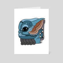 Baby Yoda glyph - Art Card by Monarobot