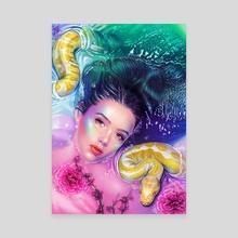 Python Bath - Canvas by Morgan Davidson