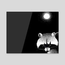 Raccoon - Acrylic by Galeria Ginkgo