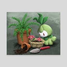 Petilil and Her Plants - Canvas by Daniel Swain
