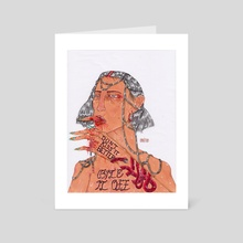 Bite It Off! - Art Card by Panteha Abareshi