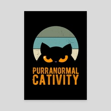 Purranormal Cativity Halloween - Canvas by Visuals Artwork