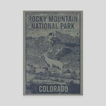 Rocky Mountain National Park Deer Travel Poster - Canvas by John Morris