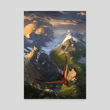 Dancing Mountains - Canvas by Melinda Vass
