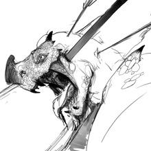 death dragon - Canvas by Anastasia Tupikova