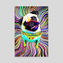 Pug - Canvas by Marcia Pinho