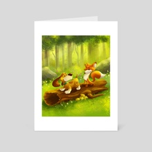 The Fox And The Hound - Art Card by Louis Wiyono