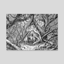 Swamp Thing - Acrylic by Jonathan La Mantia