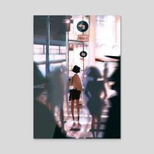 Memory Lane (Night) - Acrylic by Diobelle Cerna