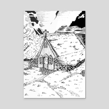 Icelandic Hut - Acrylic by Łukasz Bojke