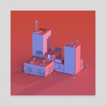 New York 01 - Canvas by Quentin Houyoux