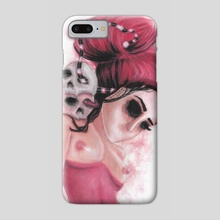 Red Coloured Dreams - Phone Case by Rouble Rust
