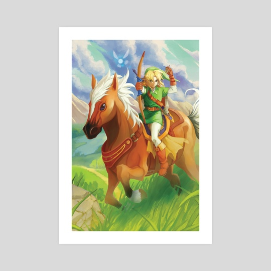 Link and Epona by Reema Andrade
