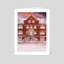 Taylor Hall - Hastings College - Art Card by Michelle Kondrich