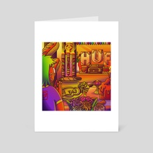 Chinese Temple - Art Card by  A_TAS
