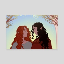 Feanor and Nerdanel  - Canvas by Telpefinde Art