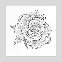 Rose - Acrylic by j