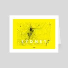 sydney poster  - Art Card by Revolution Australia