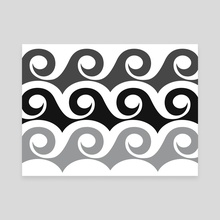 Black Tide - Canvas by Modern Tropical