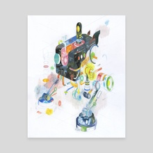 Technomancer Nuuton - Canvas by Andrew DeGraff
