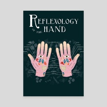 Reflexology of the Hand - Canvas by lorange.peel
