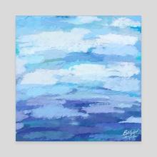 Impasto Sky Abstract Impressionist Texture Fine Art Painting - Canvas by Bridget Garofalo
