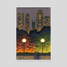 Rittenhouse Square is a Walk in the Park - Canvas by Paul Sheaffer