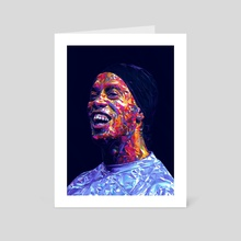 Ronaldinho Illustration  - Art Card by Visuals Artwork