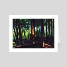 The Summer Lights of British Columbia - Art Card by Brad Collins