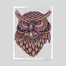 Beautiful Owl - Canvas by Ahmad Mujib