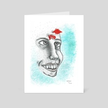 At least I still feel something / Ghost Town - Art Card by Theo Stephani