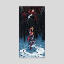 Samurai Wonder Woman - Canvas by Artyom Topilin