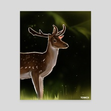 Deer 2 - Canvas by Tomcii Art