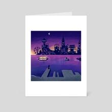 Sunset Skyline - Art Card by Teri Sky
