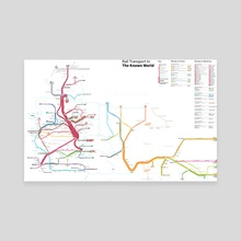 The Known World Transit Map - Canvas by Michael Tyznik