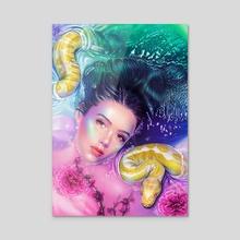 Python Bath - Acrylic by Morgan Davidson